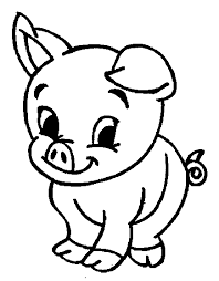 Pig Coloring Pages Getcoloringpages Com Pig Coloring Pages