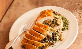 stuffed turkeys turkey breast stuffed with sausage garlic and spinach recipe relish