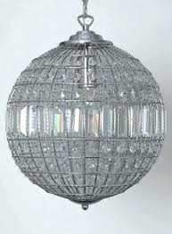 Sphere Chandelier With Crystals Globe Chandelier Medium Size Of Lights Globe