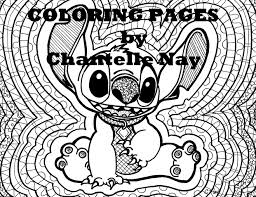coloring page stitch disney art coloring picture