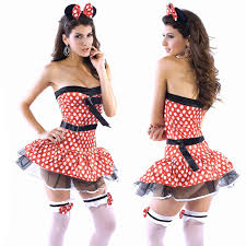 2014new fancy mickey mouse halloween costume strapless