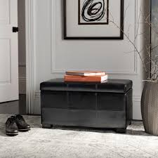 home decorators collection martin black shoe storage bench