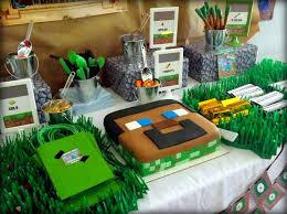 minecraft party supplies minecraft themed birthday party with lots of really ideas via