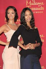 zoe saldana at the madame tussaud u0027s hollywood unveiling of her wax