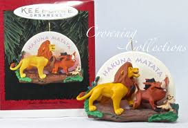 disney the king ornament simba pumbaa and timon hakuna