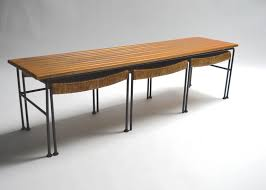 Nesting Desk Arthur Umanoff Bench With Nesting Stools At 1stdibs