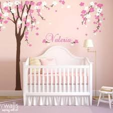 White Tree Wall Decal Nursery Tree Wall Decal Nursery Wall Decor White Tree Wall Mural Name
