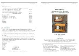 casella cel barographs small and display pattern user manual 2 pages