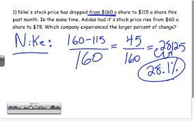 percent change word problems youtube
