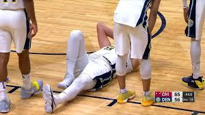 denver nuggets u0027 big man nikola jokic sprains ankle does not