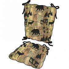 Rocking Chair Cushion Sets Woodlands Brentwood Rocking Chair Cushion Set Bears Pine Cones