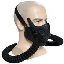 gas mask for halloween costume immortan joe mask mad max 4 fury road cosplay cool pvc half face
