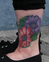 Lower Leg Tattoo Ideas Flowers Tattoo On The Lower Leg Tattoo Tattooed Tattoos