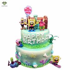 spongebob cake toppers buy cake toppers spongebob and get free shipping on aliexpress
