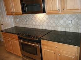 simple kitchen with countertop backsplash ideas and stove