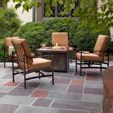 Patio Furniture With Fire Pit Costco - furniture hampton bay niles park piece gas fire pit patio seating