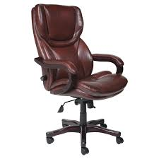 Tan Leather Office Chair Serta Bonded Leather Ergo Executive Office Chair Black Hayneedle