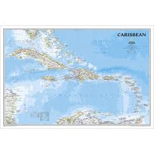 Show Map Of Puerto Rico by Caribbean Classic Wall Map National Geographic Store