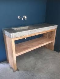 weie badmbel badmeubel oud eiken met beton badkamermeubel hout en beton
