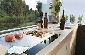 cuisine outdoor dade design concrete outdoor kitchen by dade