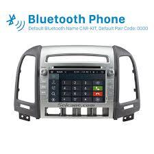 hyundai santa fe bluetooth oem android 7 1 1 hd 1024 600 touch screen gps navigation system