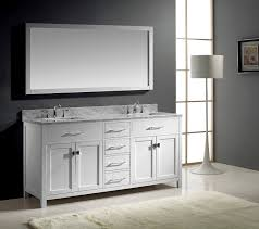 Bathroom Cabinet With Lights Virtu Usa Md 2072 Wmsq Wh Caroline 72 Inch Bathroom Vanity With
