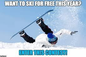Skiing Meme - contest ski for free at mount washington this year comox