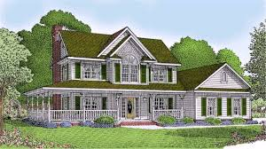 plan 70520mk modern home with wrap around porch two story country