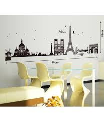 Eiffel Tower Wallpaper For Walls Stickerskart Black City Skyline Paris Eiffel Tower Silhouette
