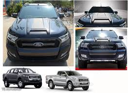ford ranger 2016 fit ford ranger mk2 px2 2015 2016 17 matte black hood scoop bonnet