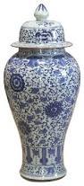 Blue And White Vase Blue And White Porcelain Ginger Jar Asian Vases By China