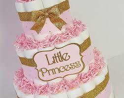 baby princess tiara diaper cake gold u0026 pink baby shower