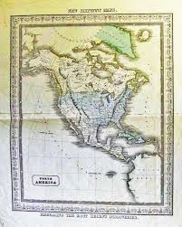 United States Map 1840 by Prints Old U0026 Rare North America Page