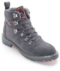 womens gray boots on sale toms summit forged grey womens boots zumiez