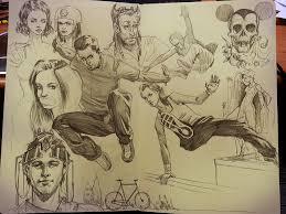 moleskine sketches parkour by karenkong on deviantart