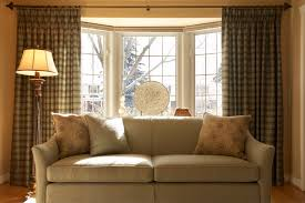 living room window treatment ideas bay window curtain ideas you can add grommet curtains you can add
