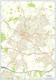 map of st albans st albans wall map 14 99 cosmographics ltd