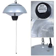 outsunny 1 5kw garden electric patio heater hanging lamp aluminum