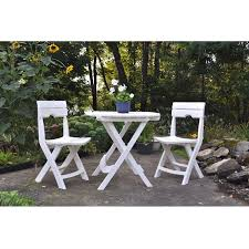 Folding Patio Furniture Set by 3 Piece Folding Outdoor Patio Furniture Bistro Set In White