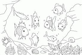 rainbow fish coloring pages friends coloringstar