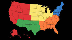 United States On Map by 5 Regions Of The United States On Emaze