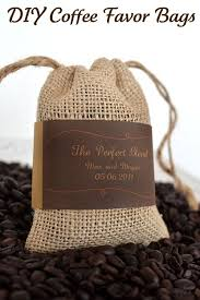 coffee wedding favors diy wedding coffee bean favor bags with free printable labels