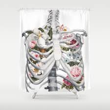 Bloody Shower Curtain And Bath Mat Anatomy Shower Curtains Society6