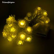 feimefeiyou newest remote battery operated lotus string lights 2m