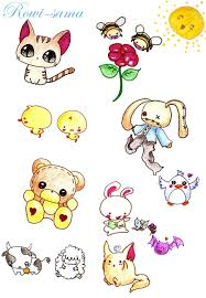 cute anime animal drawings cute anime animal sketches our