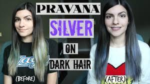 pravana silver hair color how to pravana silver on dark hair silver grey hair youtube