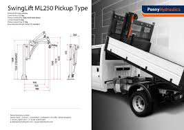 swinglift ml250 flatbed mounted u0026 demountable crane penny hydraulics