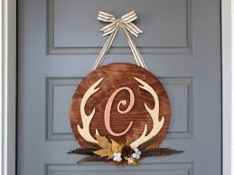 Craftcuts by Diy Fall Antler Monogram Wreath Custom Monogram Craftcuts Com