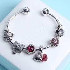 sterling pandora style bracelet images Pandora pink charm bracelet elegant pandora open bangle charm jpg