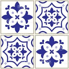 tiles pattern spanish or portuguese tile blue background geometric